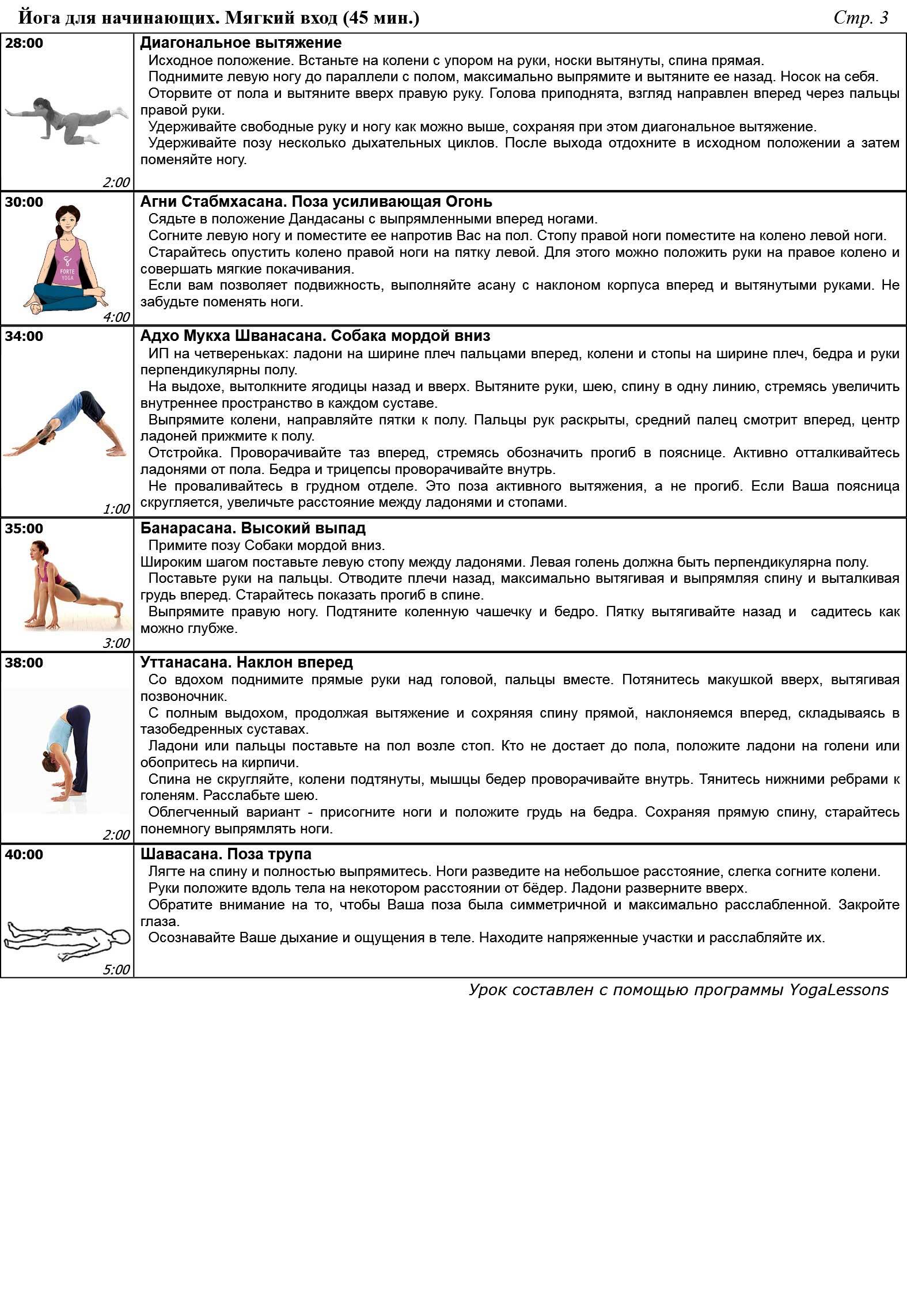 Йога инструкция с картинками
